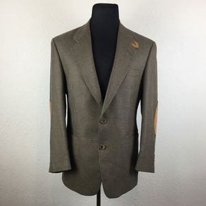 Evan Picone Wool Sport Coat-Suede Elbow Patches